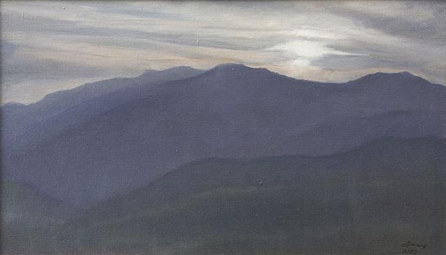 December Sun over Mt. Mitchell