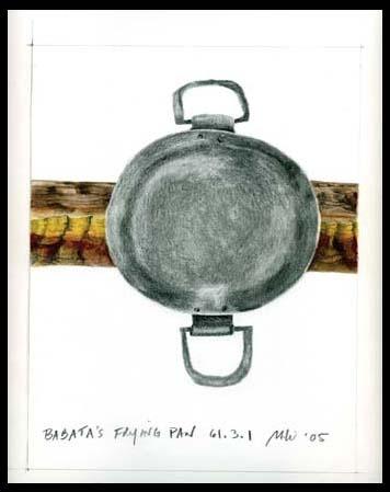 Drawing after Babatha's Frying Pan