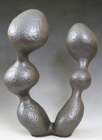contemporary, abstract ceramic sculpture