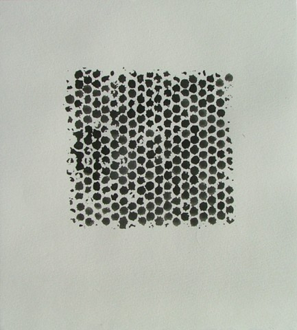 untitled - bubblewrap monoprint