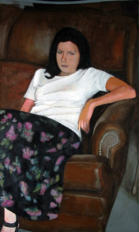 Woman On Couch 2 Study
