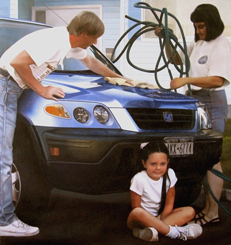 Family With SUV