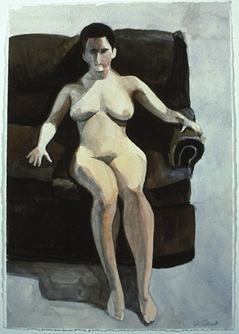 Nude On Couch Study