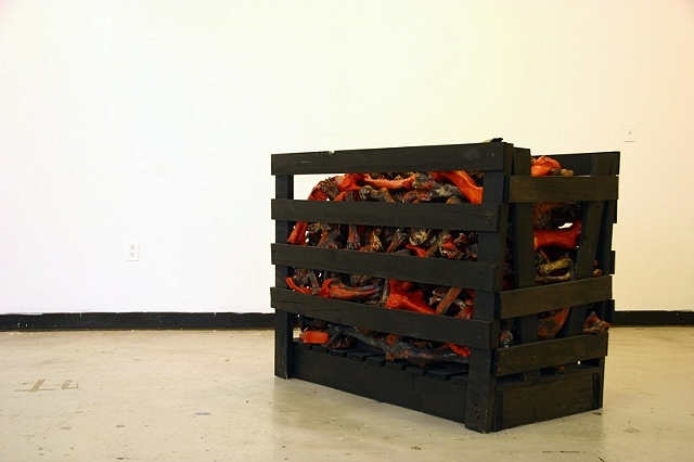 Veal Crates (detail)