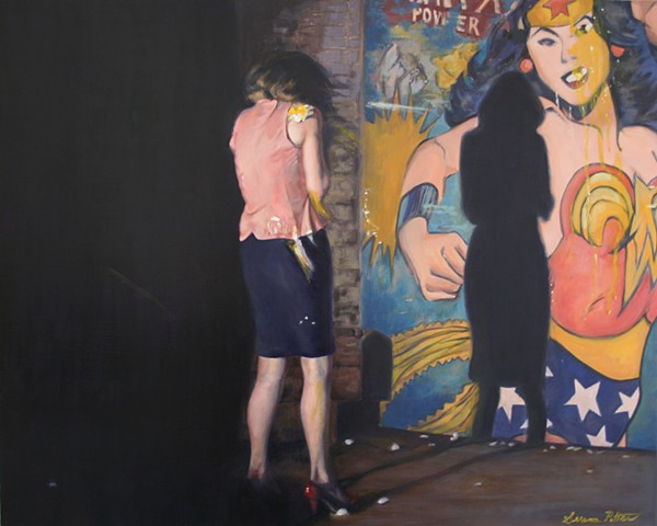 oil painting, figurative,  Wonder Woman
