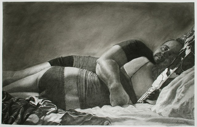 figurative, black and white, drawing, charcoal,