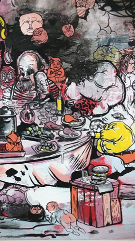 """""""Table Manners"""" (detail)"""