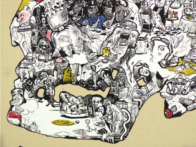 """""""Small Skull"""" (detail 1)"""