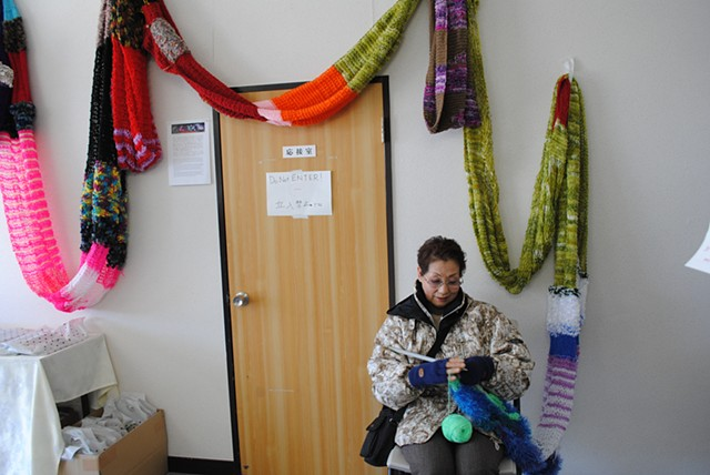 The Scarf in Ishinomaki, Japan on the one year anniversary of the tsunami