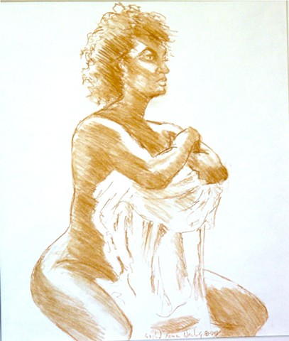 Monday Evening Life Drawing at McGown Studio in Champaign IL