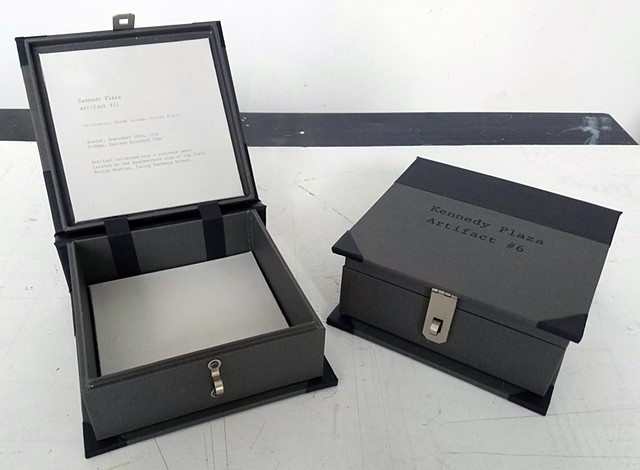 Specimen Box, Kennedy Plaza Artifact #6 and #11