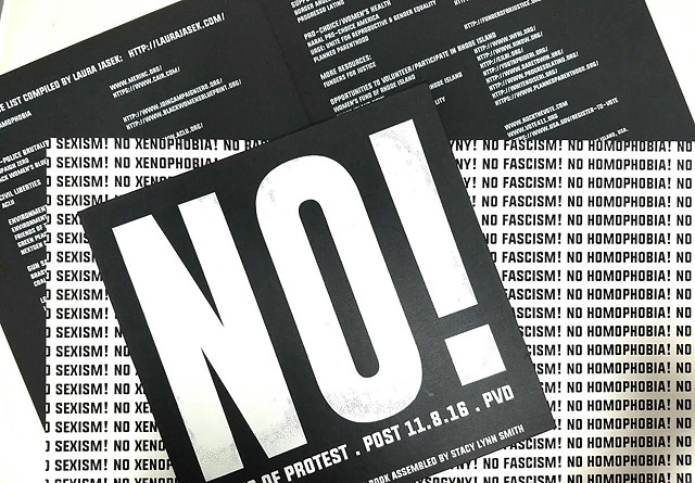 NO! Signs of Protest (material detail)