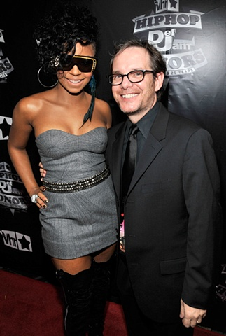 VH1 President Tom Calderone with Ashanti on October 13th, 2009 at the Hip Hop Honors Concert in NYC.