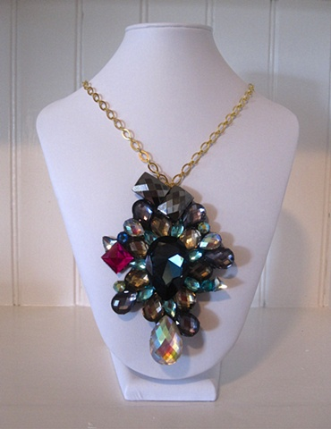 hand made, one of a kind, bib necklace