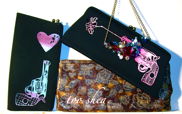 Vintage Clutch bags, revamped, renewed, recycled! ONE of a kind.