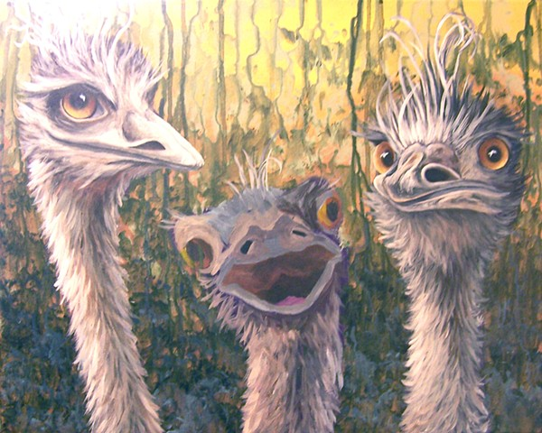 Three Emus (step 7)