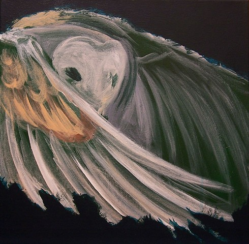 Barn Owl in flight (step 2)