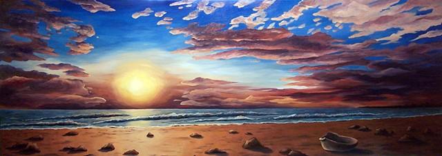Horseneck Sunset (step 5/ finished)