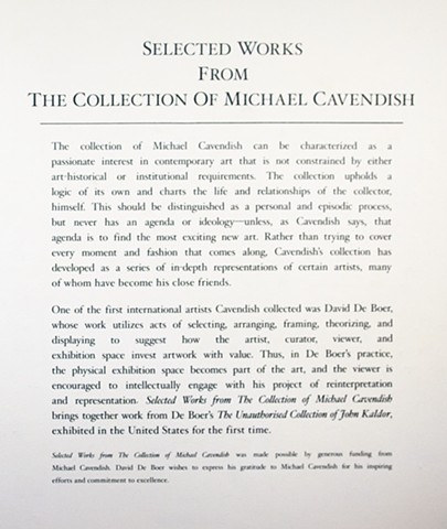 Michael Cavendish Curatorial Text