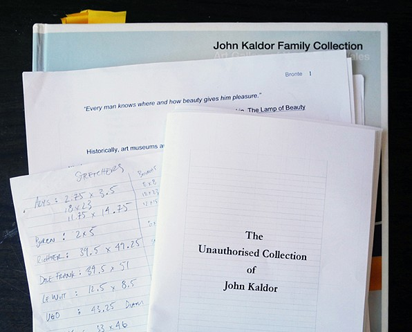 The Unauthorised Collection of John Kaldor