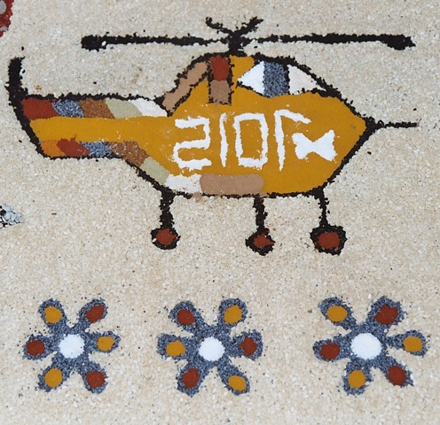 Detail - Flowers and Helicopter