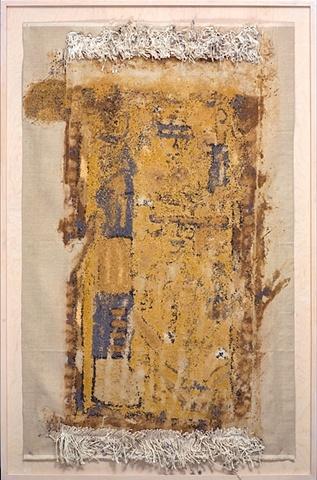 war rug, spice, monoprint,