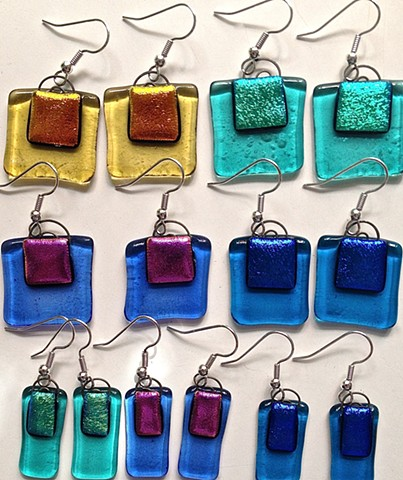 Shopping bag earrings, regular and Skinny!