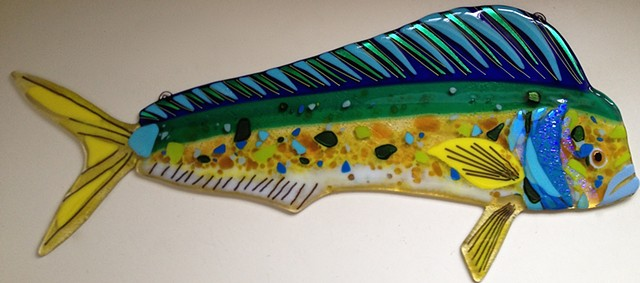 "Mahi Mahi...  details about 24"" long x 10"" tall"