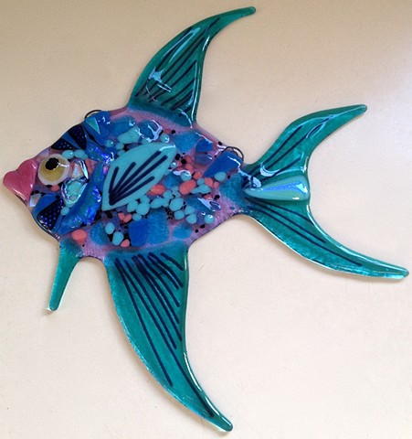 Angelfish in Aqua and Lavender