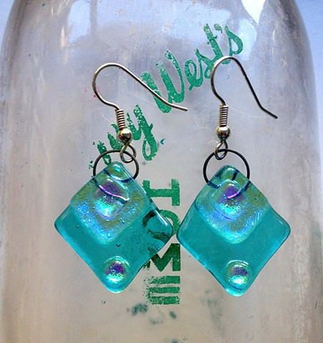 "Aqua ""Diamond Delight"" earrings"