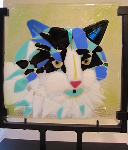 "Cat Portrait... Details: 11"" tall x 9"" wide $275.00"