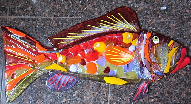 "Large Red Grouper...  details: about 22.5"" long x 11"" tall"