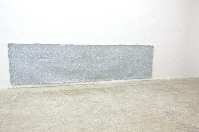 Beirut Art Center Square Meter  Beirut Art Center Square Meter Paper pulp cast (blue envelopes, receipts and invoice slips)