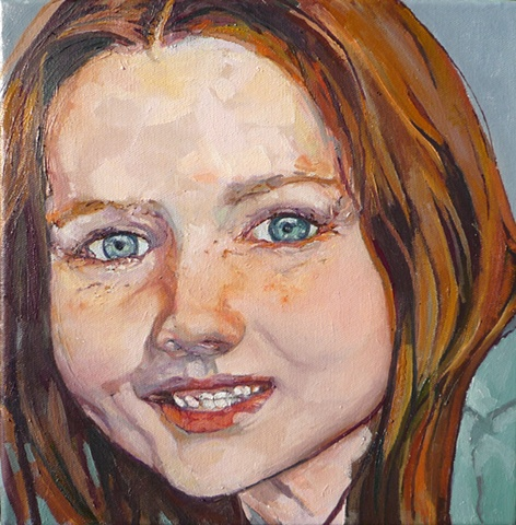 Julie Goulding oil paintings freckle face