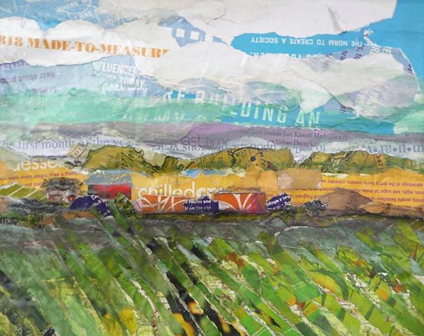 collaged spring fields