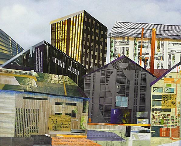 urban scene collage