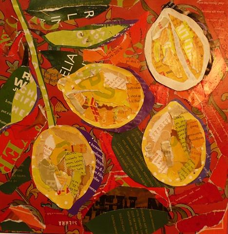 collage still life Martha Meyer lemons