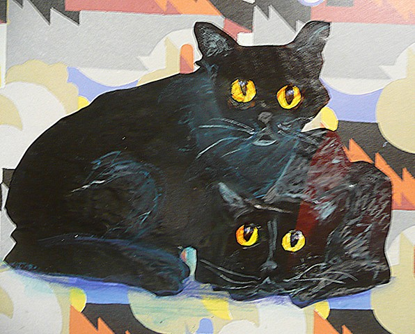 Bombay cats in collage