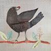 Black Bird on a Red Branch
