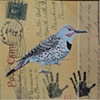 mixed media Flicker and hands