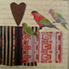 mixed media 3 birds 1 heart