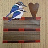 mixed media 2 birds 1 heart