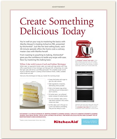 KitchenAid Advertorial