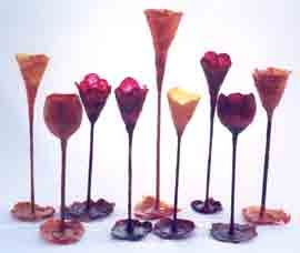 Vegetable papyrus Goblets from Edible Paper Installation N/A
