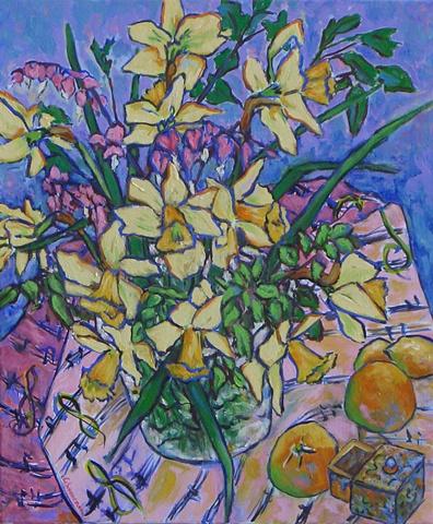 Daffodils with Hope Box