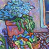 Potted Plants on Bench