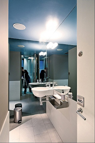 dental office, modern minimalist bathroom, by Doug Stiles Interior Design
