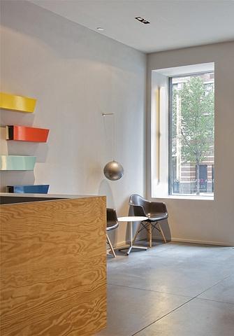 Tribeca Dental Office, modern dental office, reception area by doug stiles interior design