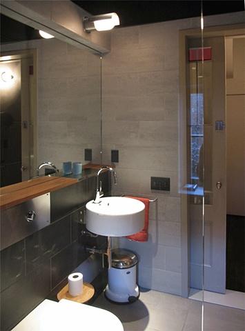 West Village Townhouse, modern bathroom, minimalist bathroom, ceramica flaminia sink, dornbracht faucet, by Doug Stiles Interior Design