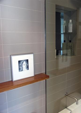east village prewar apartment, modern minimalist bathroom, by Doug Stiles Interior Design
